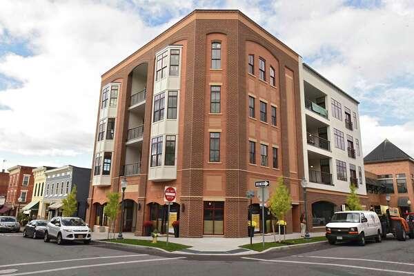 Exterior of condominium building at 55 Phila St. on Monday, Oct 16, 2017 in Saratoga Springs, N.Y. (Lori Van Buren / Times Union)