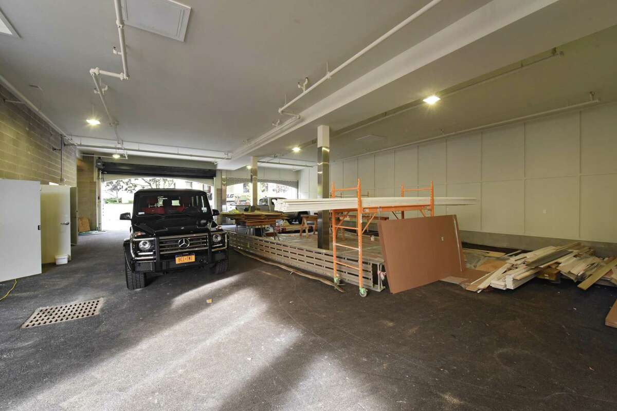 Shared garage in condominium building at 55 Phila St. on Monday, Oct 16, 2017 in Saratoga Springs, N.Y. (Lori Van Buren / Times Union)