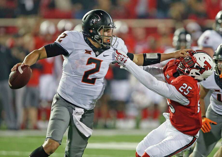 Ncaa Football Oklahoma State S Rudolph Another Top Qb To Face Texas The Courier