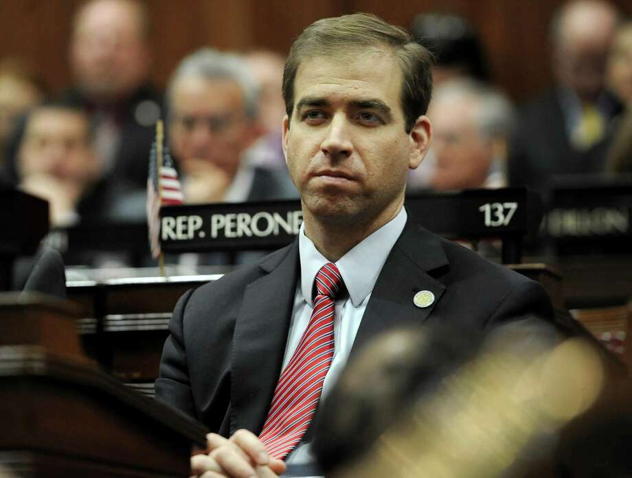 Hartford Mayor Luke Bronin listens to Connecticut Gov. Dannel P. Malloy budget address at the State Capitol, Wednesday, Feb. 3, 2016, in Hartford, Conn. Photo: Jessica Hill / Associated Press / Associated Press