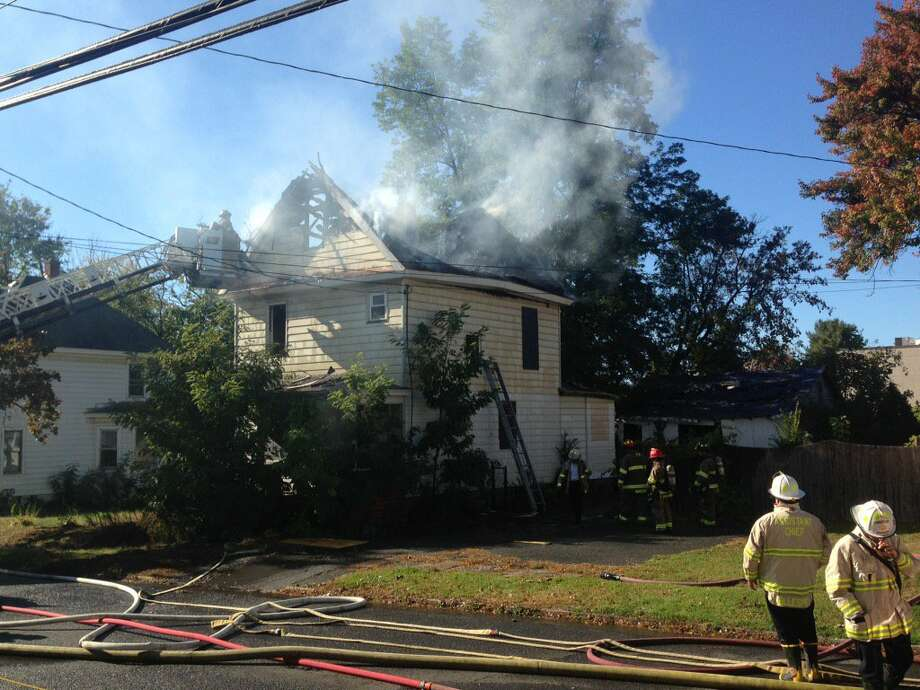 Fire engulfed a vacant home, located at 8 Wagner Ave., on Oct. 20, 2017, in Schenectady, N.Y. City officials said the blaze was suspicious. Photo: Paul Nelson / Times Union
