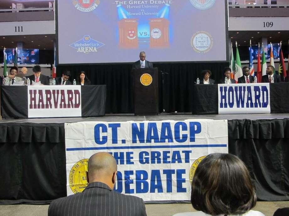 Harvard v Howard Great Debate, Arena at Harbor Yard, Bridgeport, October 20, 2017 Photo: Linda Lambeck