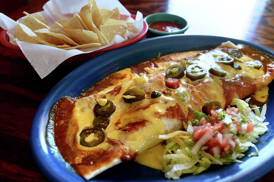 The Burrito Chapala is among the featured dishes at Rafael's Mexican Restaurant in Lumberton. Photo taken Wednesday, October 18, 2017 Kim Brent/The Enterprise Photo: Kim Brent / BEN