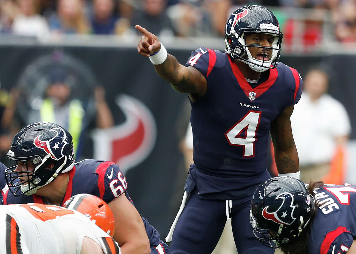 TEXANS' THREE KEYS TO VICTORY 2 Rookie quarterback Deshaun Watson has to keep the defense confused by balancing well-timed runs with low-risk passes.