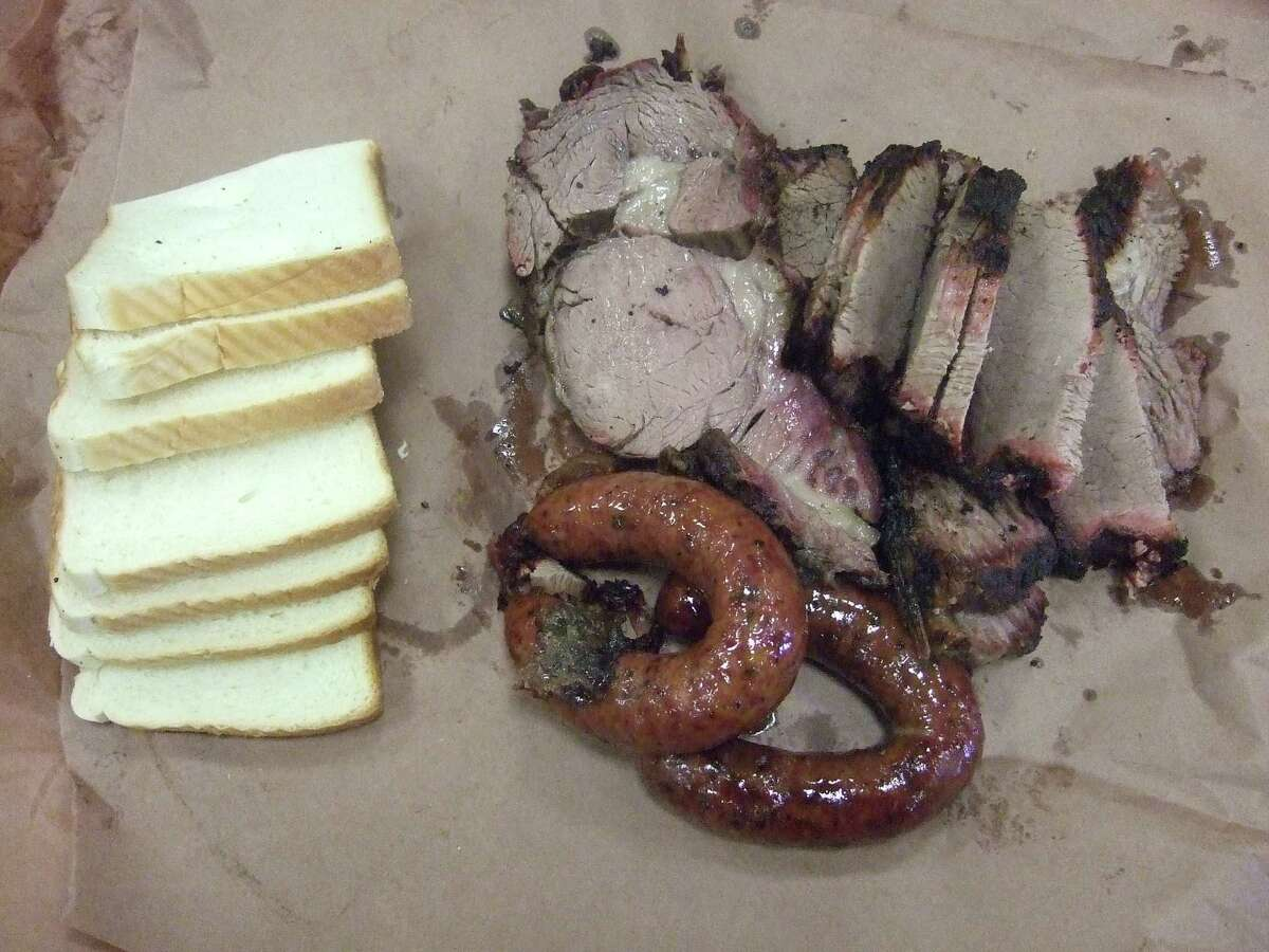 """Kreuz Market in Lockhart is famous for its """"no sauce, no forks,"""" policy."""