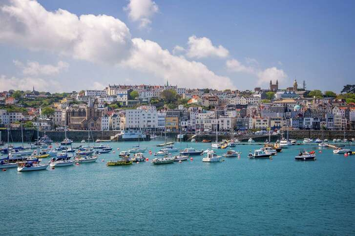 St. Peter Port, Guernsey, was the first of five ports of call on the Azamara Journey's nine-day cruise.