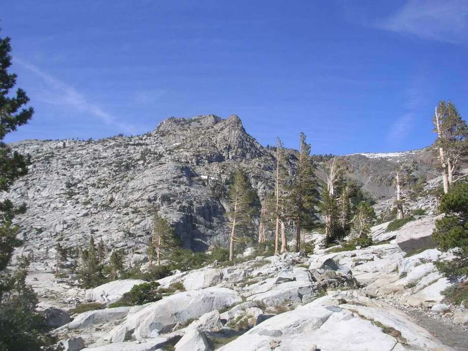 The PCT, bottom right, in Desolation Wilderness. Photo: /