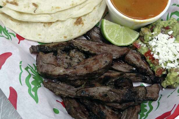 The fajita plate at the Salpicon Baja Street Grill in 2011. Yummy, but not so yummy was a scheme in which $1.2 million worth of fajita meat was delivered to a juvenile detention facility in Cameron County and then stolen over a nine-year period by an employee.