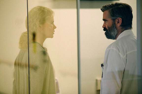 "Nicole Kidman and Colin Farrell in ""The Killing of a Sacred Deer."" MUST CREDIT: Atsushi Nishijima, A24"