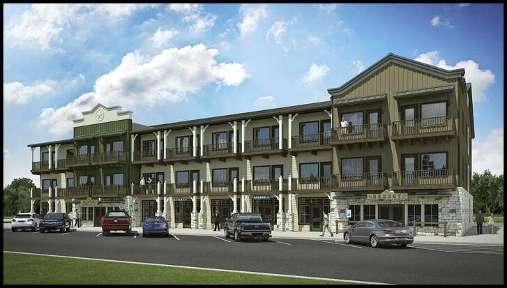 A rendering by Showcase Development of San Antonio of a hotel it wants to build on Main Street in Bandera. The firm had asked for more than $1 million in incentives from the city but negotiated a reduced incentives package on Wednesday.