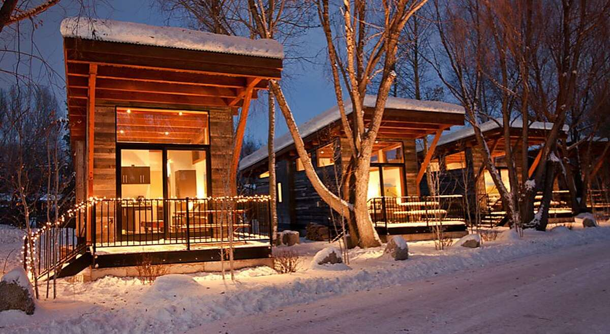 Fireside Resort in Jackson Hole, Wyo., offers 25 �tiny house�-style cabins close to the ski slopes in Teton Village.