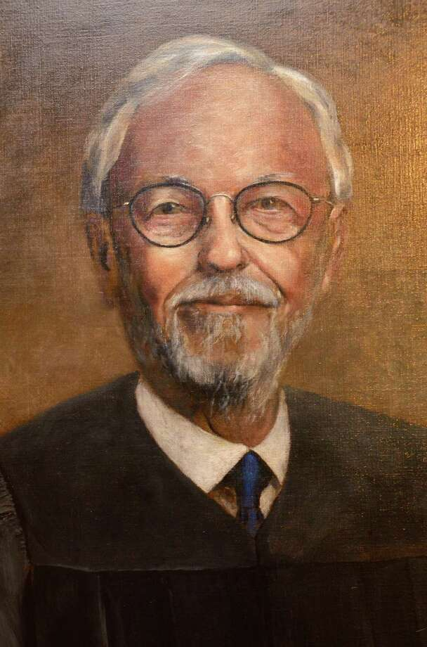 A portrait of former Texas Supreme Court Justice Ted Z. Robertson hangs in the courtroom. Robertson, 96, a San Antonio native, died in his sleep at his Dallas home on Oct. 13, 2017. He served on the Texas Supreme Court from 1982 through the end of 1988. Photo: Courtesy Photo /Texas Supreme Court