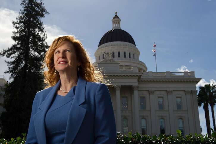 Kathleen Finnigan was fired from the Assembly in 2013 after filing a sexual harassment complaint against a then-Assemblyman for exposing himself to her. She reached as settlement this year with the Assembly for $100,000. Photographed Friday, October 20, 2017 at the State Capitol in Sacramento, Calif.