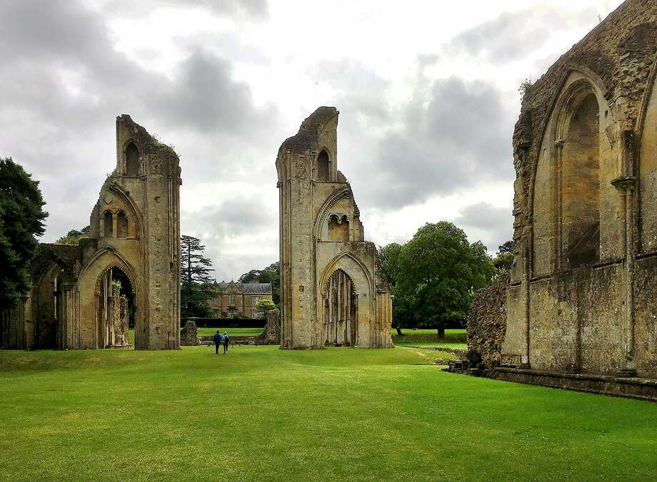 The evocative ruins of Glastonbury Abbey, the first Christian sanctuary in the British Isles, still feel mysteriously alive amid lush parkland. Photo: Carrie Shepherd, Rick Steves' Europe