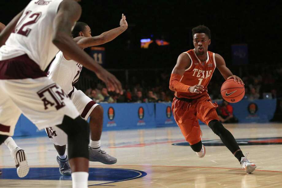 Isaiah Taylor of UT dribbles against Texas A&M on Nov. 25, 2015, in the Battle 4 Atlantis tournament in the Bahamas. Photo: Logan Reidsma /Getty Images