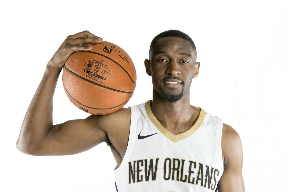 Pelicans' Ian Clark during their NBA basketball media day in New Orleans, Monday, Sept. 25, 2017. (AP Photo/Doug Parker) Photo: Doug Parker, Associated Press