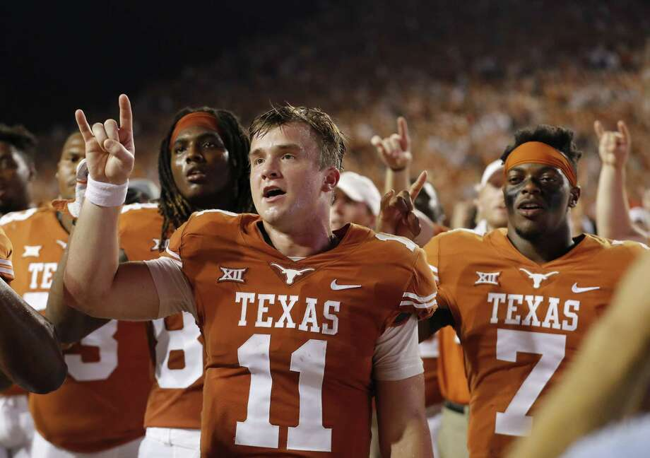 Freshman quarterback Sam Ehlinger has positioned himself as the Longhorns' starting quarterback but is yet to find a signature win in his first season. Photo: Tim Warner, Stringer / 2017 Getty Images