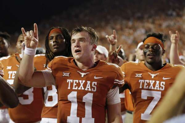 Freshman quarterback Sam Ehlinger has positioned himself as the Longhorns' starting quarterback but is yet to find a signature win in his first season.