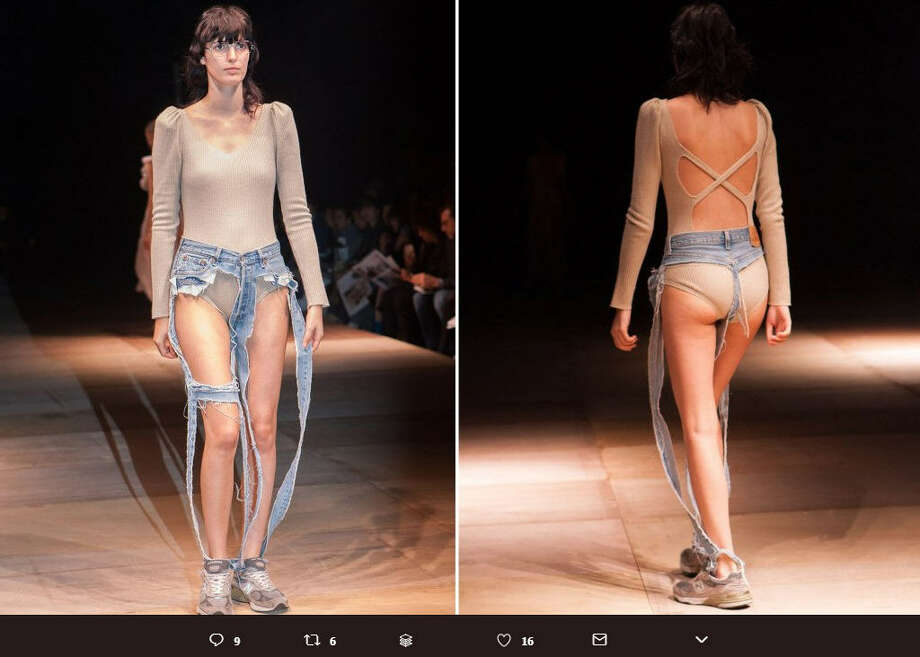 Thong jeans are the latest trend in high fashion, and they are making us question the validity of runway shows.>> See other crimes against fashionPhoto: Twitter