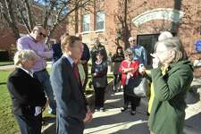 U.S. Sen. Richard Blumenthal came to Winsted Friday to speak against the budget resolution recently passed by the Senate and warn about possible ramifications of GOP-led tax cut effort.