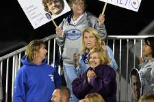 Hoosick Falls fans during Friday Night's game against Watervliet Oct. 20, 2017 in Watervliet, NY.  (John Carl D'Annibale / Times Union)
