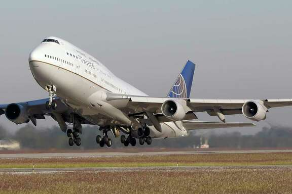 United Airlines' Boeing 747 farewell tour came to Bush Intercontinental Airport last week. United is retiring its 747s because they have lost ground to more fuel-efficient aircraft that can fly farther.
