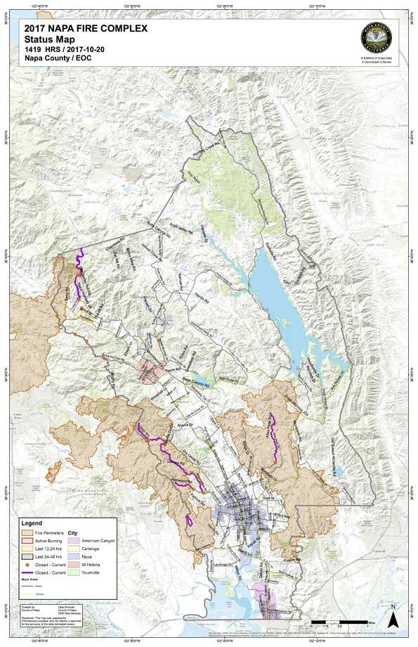The County of Napa has developed a map that shows the status of structures countywide that were impacted by the wildfires in the county since Oct. 8. The interactive online mapping tool includes a search feature that details whether a building has been red or yellow-tagged because of the fires. Photo: County Of Napa
