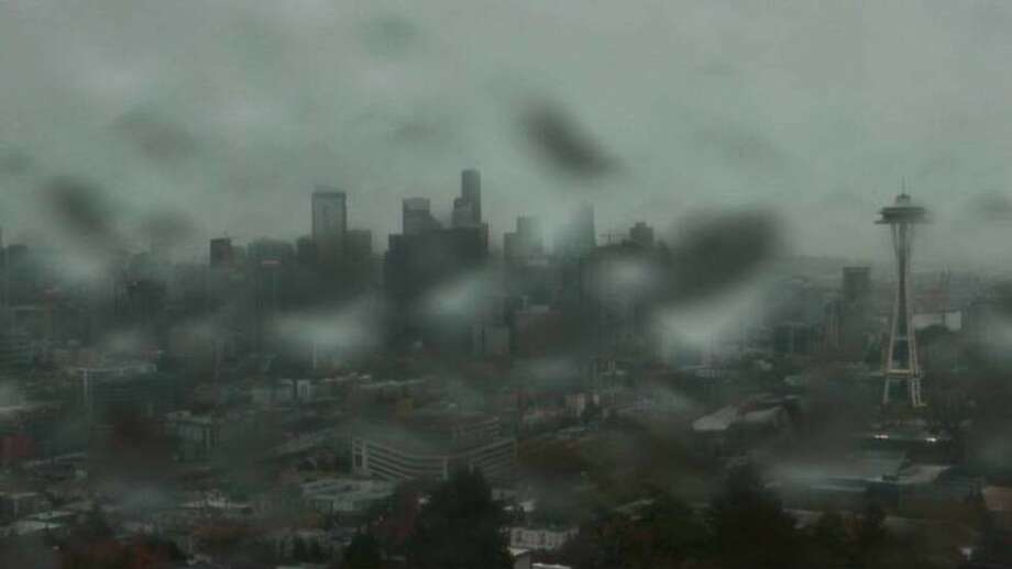 A rainy day in Seattle on Oct. 21, 2017. Photo: KOMO News