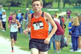 Edwardsville junior Todd Baxter competes in the boys' race during Saturday's Class 3A Belleville West Regional.