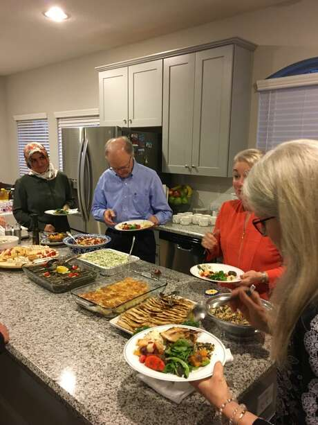 Congregants of Palmer Memorial Episcopal Church and Turkish-American muslims share an interfaith dialogue and dinner.