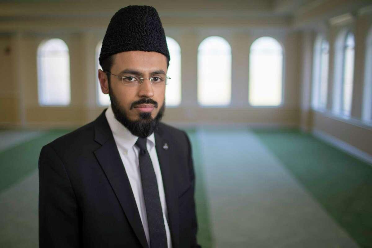 Imam Rizwan Khan leads Baitus Samee Mosque in Houston.