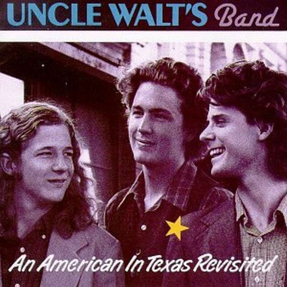 """Cover for """"An American in Texas Revisited,"""" a reissue of the second album by Uncle Walt's Band, featuring Walter Hyatt, David Ball and DesChamps Hood. Photo: Sugar Hill"""