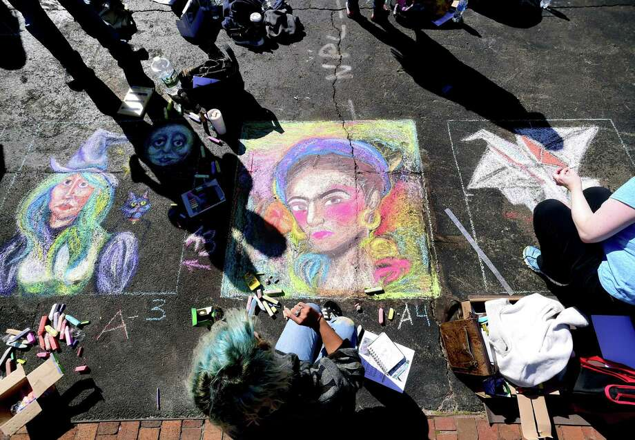 You're going to want to bring a pack of chalk for New Haven's 3rd Annual Chalk Art Festival on Saturday. Find out more. Photo: Arnold Gold / Hearst Connecticut Media / New Haven Register