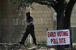 The Brook Hollow Library, seen in 2017, is one of 38 early voting polling sites in Bexar County. Early voting for the March 6 primaries begins Tuesday and ends March 2.