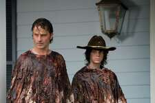 The Walking Dead  : AMC's zombie series, 'The Walking Dead,' might be the goriest and bleakest show on television, but viewers can't get enough, consistently breaking cable ratings records. The first seven seasons are available to watch on AMC.com for subscribers. The eighth season begins on Sunday, October 22nd. (AMC)