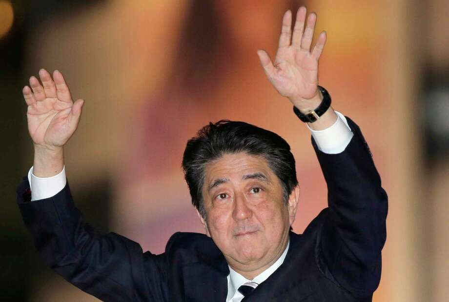 Shinzo Abe is jockeying to be Japan's longest-serving prime minister in the post-World War II era. Photo: Shizuo Kambayashi, STF / Copyright 2017 The Associated Press. All rights reserved.
