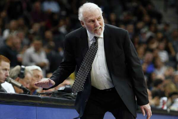 Spurs Coach Gregg Popovich reacts angrily to a call in the season opener against the Minnesota Timberwolves at AT&T Center. Readers, pro and con, continue to voice their opinions on the coach and his controversial comments.