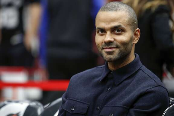 San Antonio     Spurs     guard Tony Parker smiles before an NBA basketball game against the Chicago Bulls, Saturday, Oct. 21, 2017, in Chicago. (AP Photo/Kamil Krzaczynski)