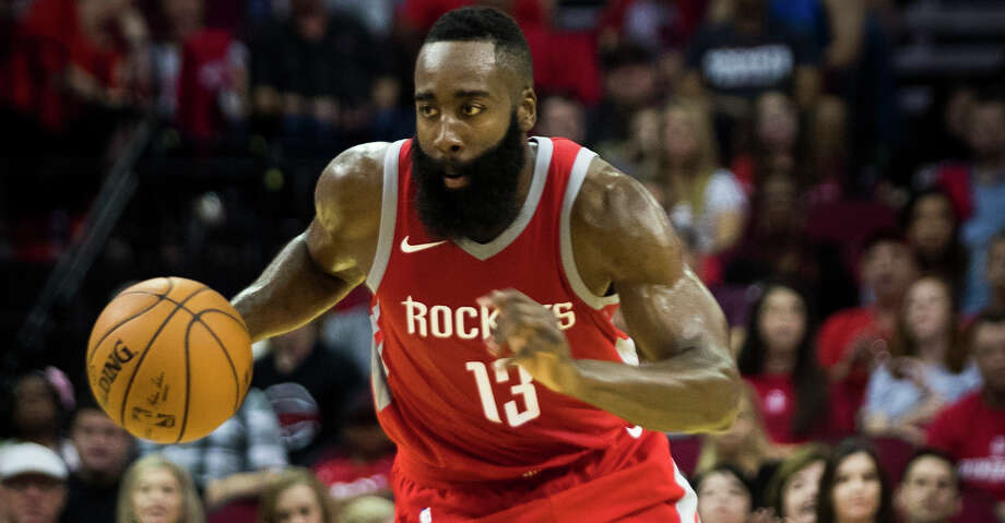 bb26cadeada4 Houston Rockets guard James Harden (13) drives the ball during the first  half of