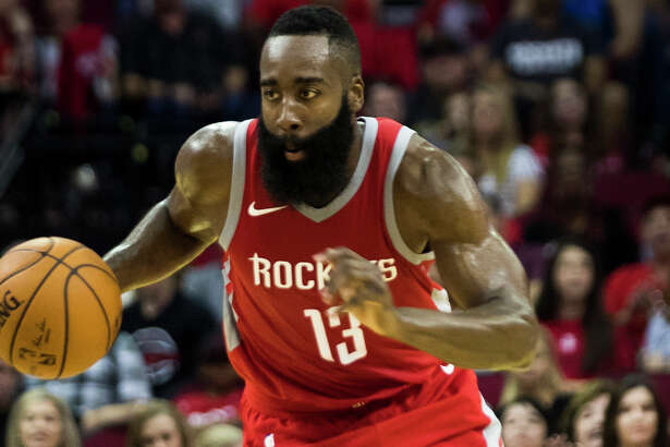 Houston Rockets guard James Harden (13) drives the ball during the first half of the game against the Dallas Mavericks, Saturday, Oct. 21, 2017, in Houston. ( Marie D. De Jesus / Houston Chronicle )