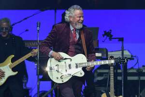 Singer Robert Earl Keen performs at the Deep From the Heart: The One America Appeal Concert at Texas A&M University's Reed Arena  Saturday, Oct. 21, 2017, in College Station. All proceeds from the concert will go to the special hurricane recovery effort benefiting Texas, Florida, and the Caribbean.