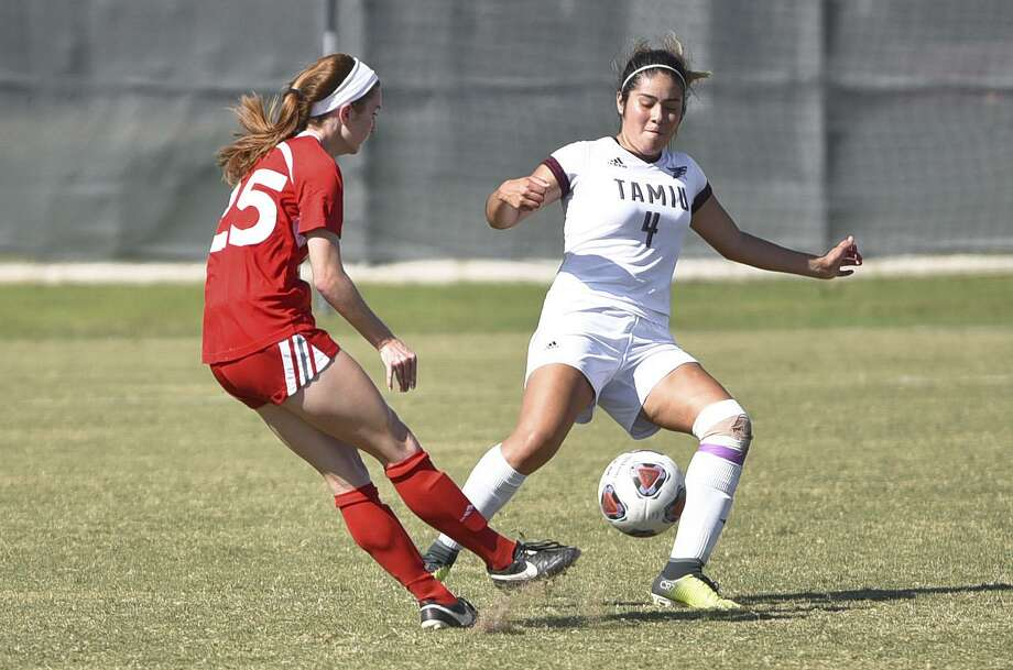Michell Salinas and the Dustdevils women's soccer team lost 4-1 to Newman at home Saturday. Photo: Danny Zaragoza /Laredo Morning Times / Laredo Morning Times