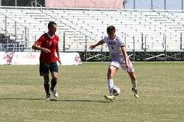 Rafael Montabes scored for the first time this season ending his scoreless drought on his 50th shot as the forward gave TAMIU a 2-1 double-overtime victory over Newman and clinched a spot in the Heartland Conference Tournament.