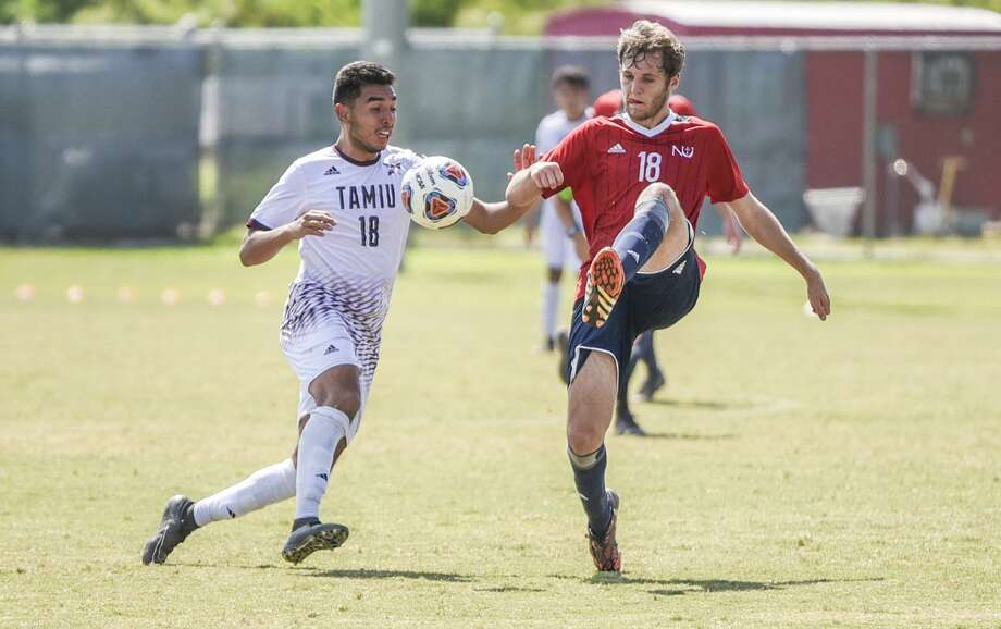 Laredoan Rodrigo Zuniga scored four goals last week for TAMIU, earning Heartland Conference Offensive Player of the Week honors. The Dustdevils host Dallas Baptist and St. Mary's this week vying for a home game in the Heartland Conference Tournament. Photo: Danny Zaragoza /Laredo Morning Times