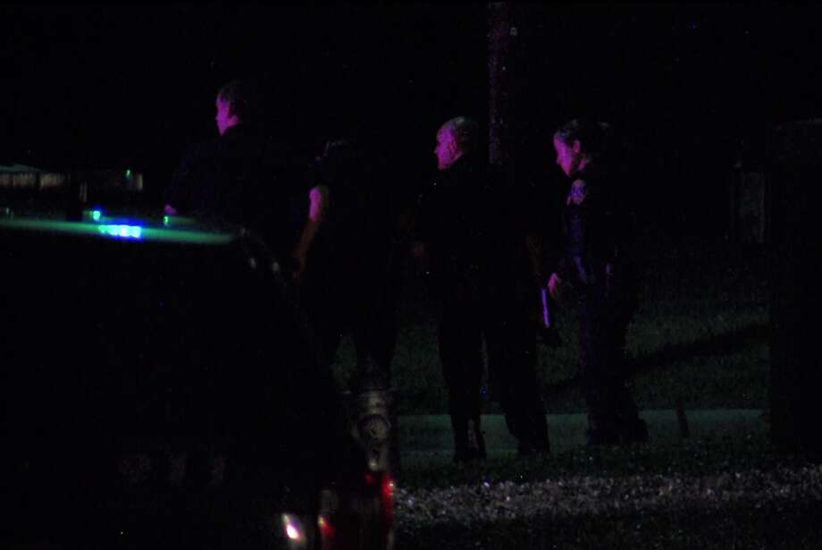 A man was shot after an hours-long standoff with police in Terrell Hills last Saturday night, Oct. 21, 2017. The subject was taken to Brooke Army Medical Center in serious but stable condition. Photo: Pro 21 Video