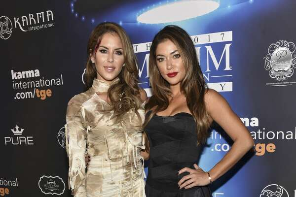 LOS ANGELES, CA - OCTOBER 21:  Brittney Palmer (L), and Arianny Celeste arrive at the 2017 MAXIM Halloween Party at LA Center Studios on October 21, 2017 in Los Angeles, California.  (Photo by Rodin Eckenroth/Getty Images for MAXIM)