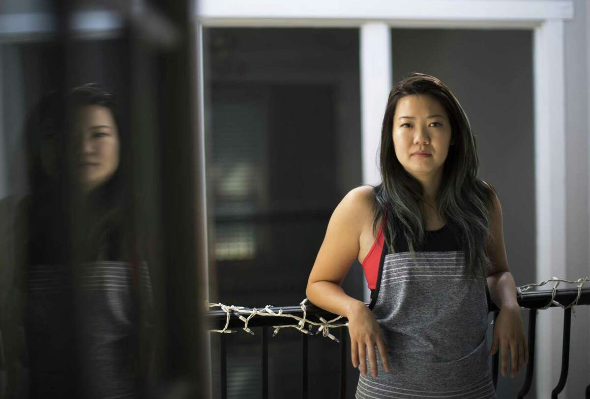 """Stephanie Chen, 33, believes the """"Me Too"""" movement is a painful but necessary conversation to have to de-stigmatize speaking out about sexual assault. Wednesday, Oct. 18, 2017, in Houston. ( Marie D. De Jesus / Houston Chronicle )"""