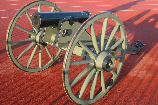 Photo credit James Hromadka Replica Howitzer cannon awarded to soccer team Houston Dynamo after winning the 2006 regular-season series against Texas rival FC Dallas.