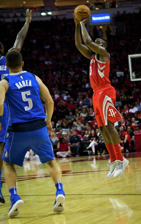 Even though guard James Harden and his teammates are hitting only 28.6 percent of their 3-pointers, the Rockets have won and are the NBA's only 3-0 team. Photo: Marie D. De Jesus, Staff / © 2017 Houston Chronicle