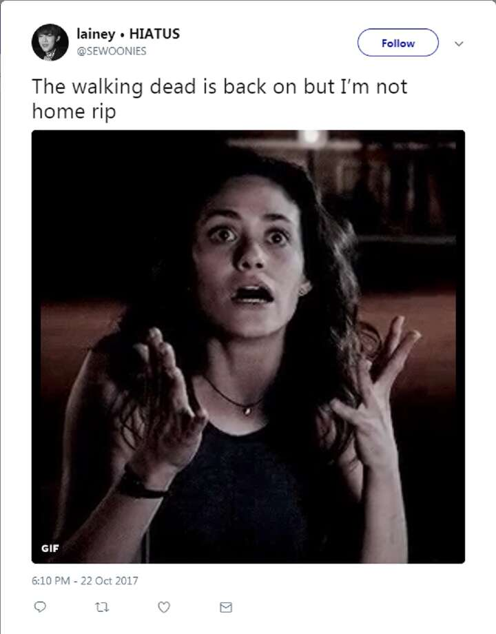"""Fans reacted to the season 8 premiere of """"The Walking Dead"""" on Twitter. Photo: Twitter Screengrab"""